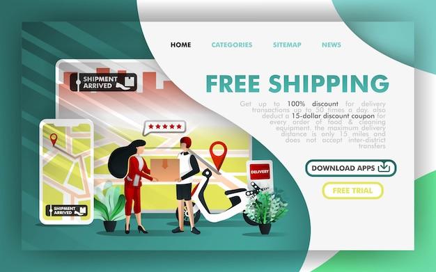 Frete grátis online business