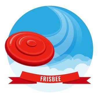 Frisbee fora do cartaz de atividade.