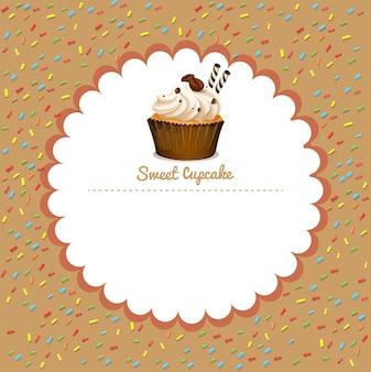 Fronteira com cupcake de café