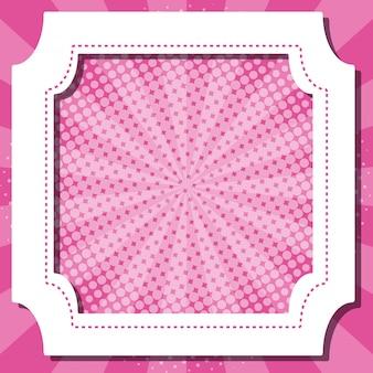 Fronteira com modelo rosa