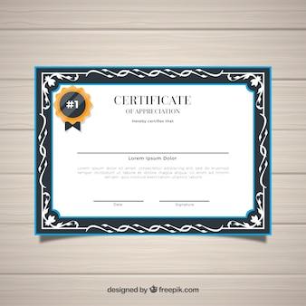 Fronteira de certificado em estilo ornamental