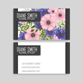 Fronteira de círculo de flores escuras - fundo azul flores