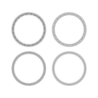 Fronteira de círculo para logotipo vintage