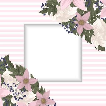 Fronteira de desenhos de flores - flores cor de rosa
