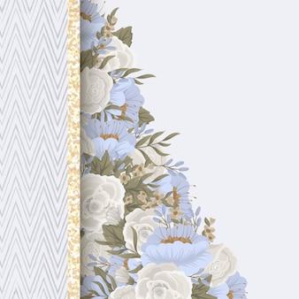 Fronteira de desenhos de flores - flores da primavera
