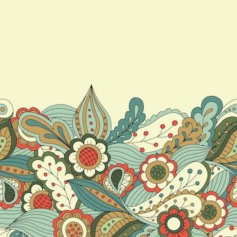 Fronteira de elemento decorativo. cartão de convite abstrato. modelo de design de onda para cartão. fundo floral abstrato