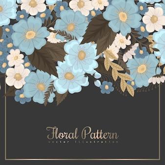 Fronteira de flor de fundo floral primavera