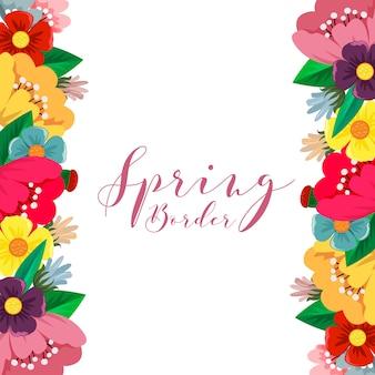 Fronteira de flor de primavera