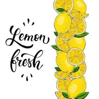 Fronteira de limão decorativo
