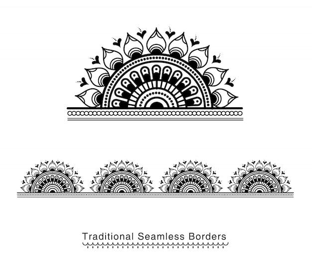Fronteira de mandala decorativa
