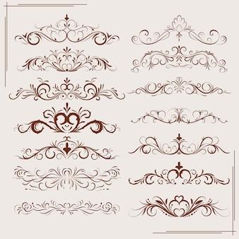 Fronteira de ornamento vintage, divida. estilo vitoriano antigo