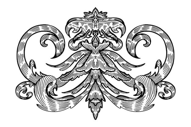 Fronteira desenhada de mão realista ornamentais