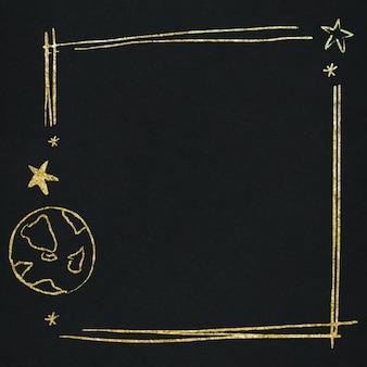 Fronteira estrela do espaço vetorial para crianças