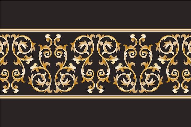 Fronteira ornamental de luxo
