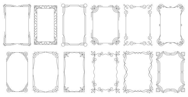 Fronteiras caligráficas antigas