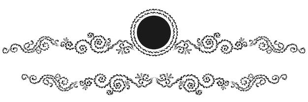 Fronteiras caligráficas decorativas vintage. sinalização de modelo, logotipos, etiquetas, adesivos, cartões. elementos de design clássico para cartões, diplomas, certificados e prêmios. página de design gráfico.