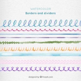 Fronteiras da aguarela e divisores