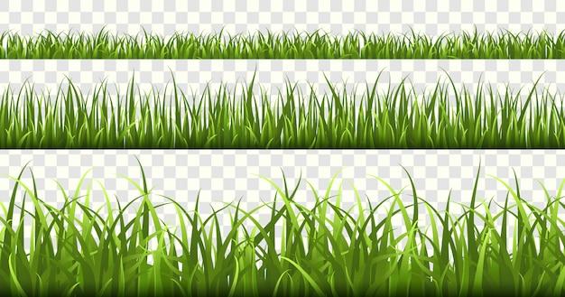 Fronteiras de grama verde.
