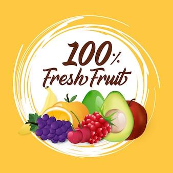 Fruta com cor simples