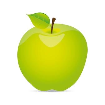 Fruta da maçã verde