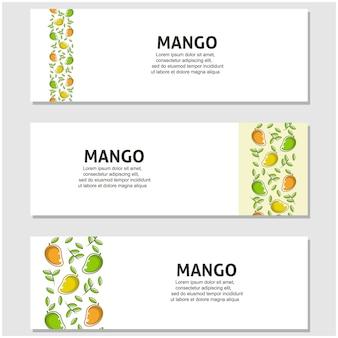 Fruta da manga em design plano