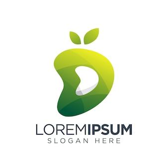 Fruta de logotipo d fresca