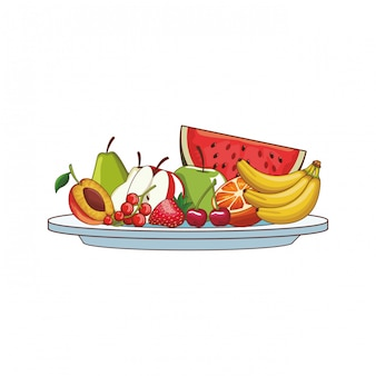 Fruta deliciosa e fresca