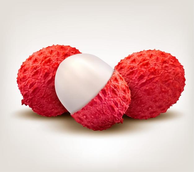Fruta fresca de lichia.