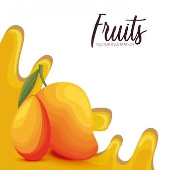 Fruta fresca de manga saudável