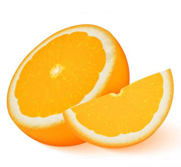 Fruta laranja isolada no branco