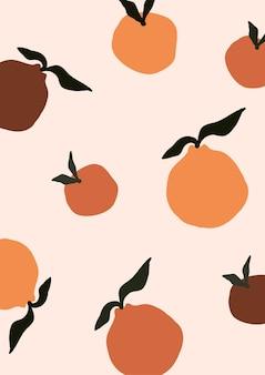 Fruta laranja moderna abstrata