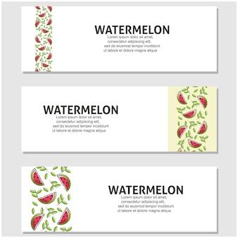 Fruta melancia em design plano