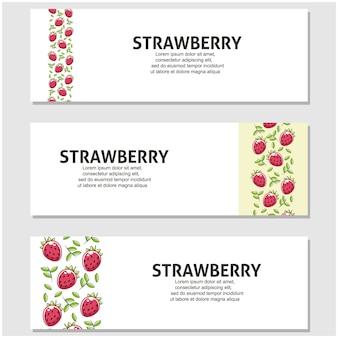 Fruta morango em design plano