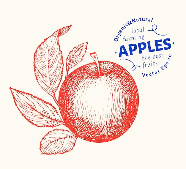 Fruta ramo de maçã