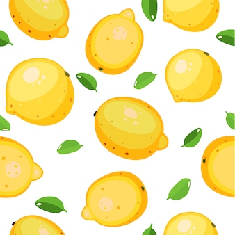 Fruta sem costura padrão bonito