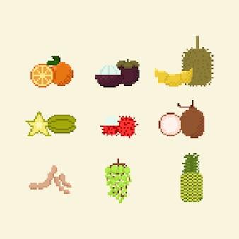 Fruta tailandesa de pixel