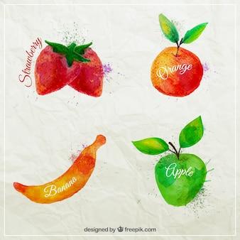 Frutas aguarela