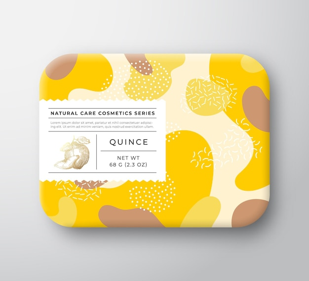 Frutas banho cosméticos caixa vetor embrulhado recipiente de papel com cuidado rótulo tampa embalagem modo de design ...