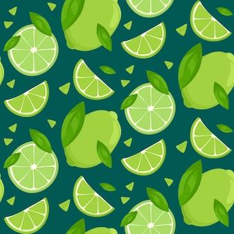 Frutas cítricas em ilustração de estilo cartoon
