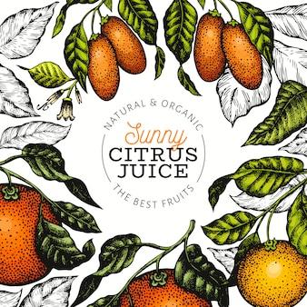 Frutas cítricas ensolaradas