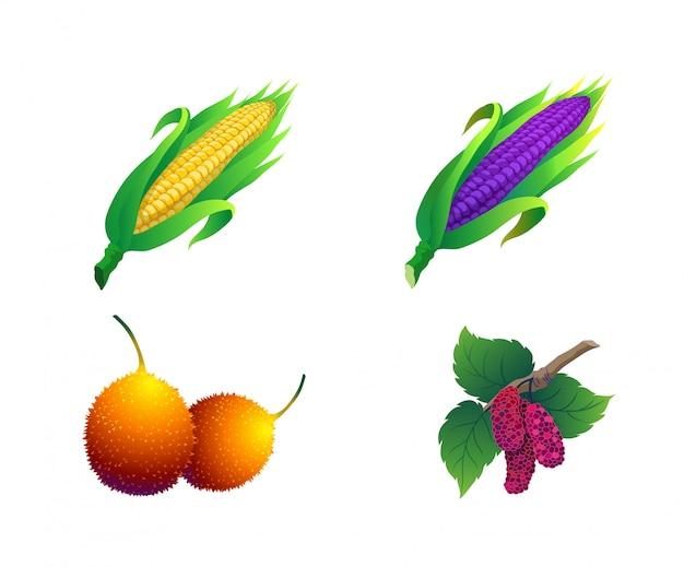 Frutas contêm milho