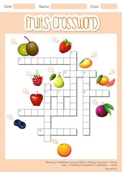 Frutas cruzam palavra