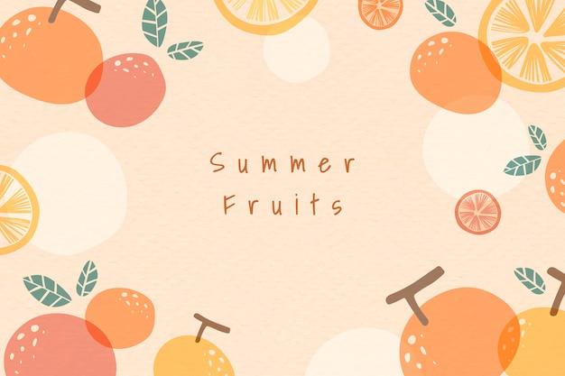 Frutas de verão modelado fundo