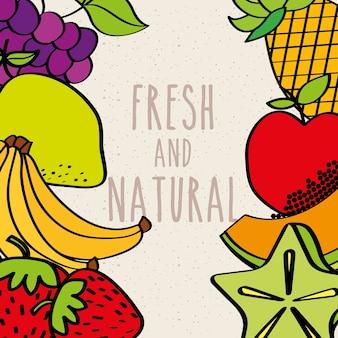 Frutas e frutas frescas decoração decoração decoração