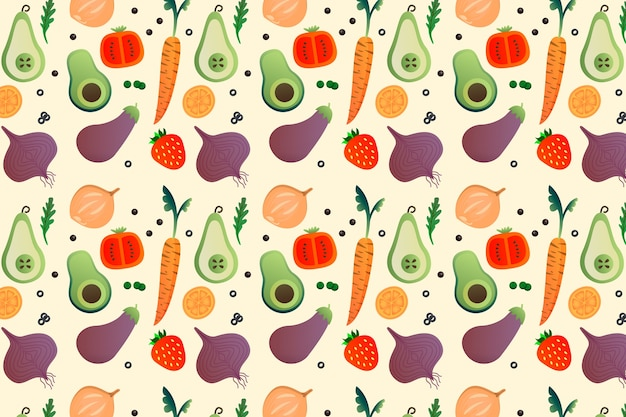Frutas e legumes de estilo de fundo