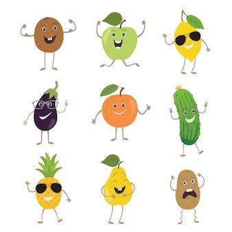 Frutas e vegetais engraçados