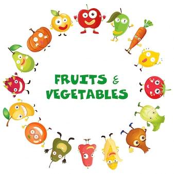 Frutas e vegetais frescos