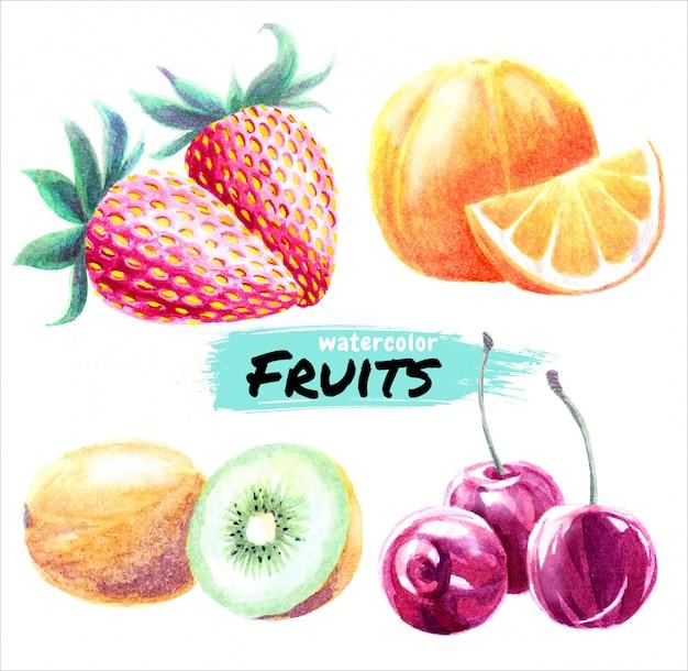 Frutas em aquarela