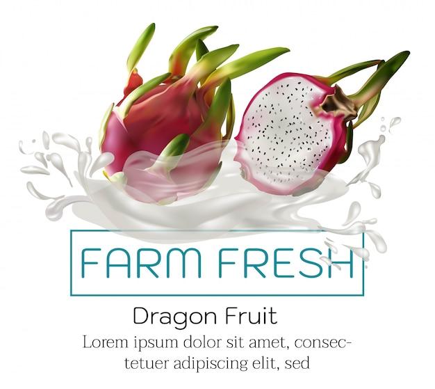 Frutas em cartaz de publicidade