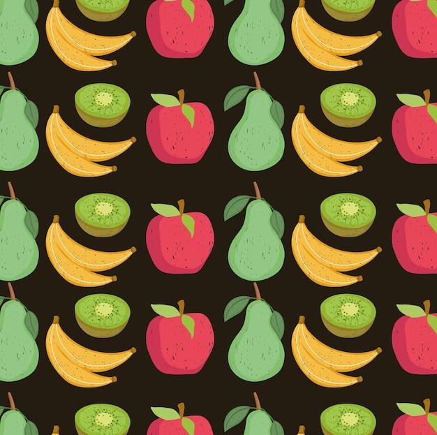 Frutas frescas de fundo